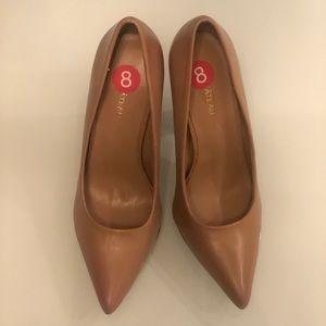 Pointed Toe block heel pumps